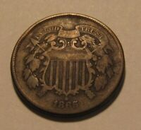 1865 TWO CENT PENNY   CIRCULATED CONDITION   147SU
