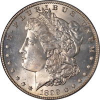1899-S MORGAN SILVER DOLLAR PCGS MINT STATE 64 GREAT EYE APPEAL STRONG STRIKE