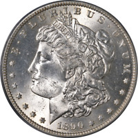 1890-S MORGAN SILVER DOLLAR PCGS MINT STATE 64 GREAT EYE APPEAL STRONG STRIKE