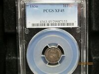 1856 HALF DIME  PCGS  XF 45  IT LOOKS LIKE AN AU ALL DAY LON