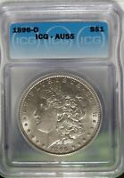 1896-O MORGAN DOLLAR ICG AU55 - SHARP COIN