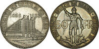 BELGIUM: 50 FRANCS SILVER 1935 FRENCH LEGEND, POSITION A, COIN ALIGNMENT - EXTRA FINE