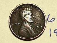 1918 LINCOLN CENT WHEAT CENT 6112K