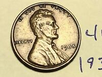 1935 1C BN LINCOLN CENT WHEAT CENT 4190K