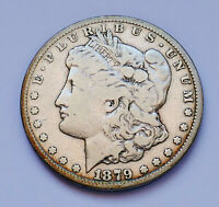 SEMI-KEY 1879-CC / CC VARIETY  U.S. MORGAN SILVER DOLLAR  FINE CONDITION