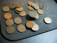34 SWEDEN 1 ORE OLD WORLD COINS 1874 1950 NEARLY ALL DIFFERENT