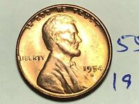 1954-S LINCOLN WHEAT CENT PENNY 1C 5525K