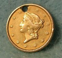 1850 LIBERTY HEAD $1 ONE DOLLAR UNITED STATES GOLD COIN HIGH