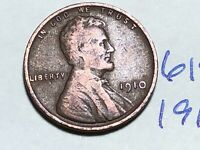1910 1C BN LINCOLN CENT WHEAT CENT 6194K