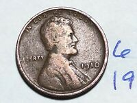 1910 1C BN LINCOLN CENT WHEAT CENT 6196K