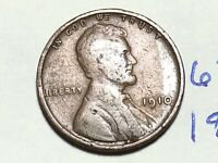 1910 1C BN LINCOLN CENT WHEAT CENT 6210K