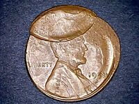 1958 D LINCOLN WHEAT 1C MULTI STRIKE ERROR APPEARS TO BE POS