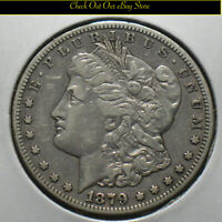 1879-CC U.S. MORGAN SILVER DOLLAR $1 VF DETAILS CARSON CITY MINT CLEAR CC