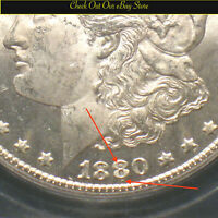 1880-CC U.S. MORGAN SILVER DOLLAR $1 ICG MINT STATE 63 VAM-6 8/7 TOP 100