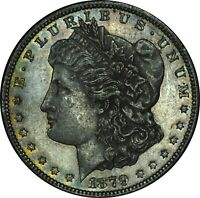 1879-S MORGAN DOLLAR BEAUTIFUL TONED COIN CHOICE AU CONDITION 2