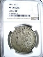1892-S MORGAN SILVER DOLLAR, CERTIFIED: NGC EXTRA FINE  DETAILS