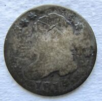 1814 LARGE DATE CAPPED BUST DIME  DATE DAMAGED BENT