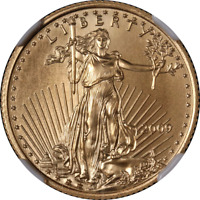 2009 GOLD AMERICAN EAGLE $10 NGC MS70 EARLY RELEASES BLUE LABEL
