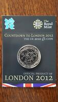 THE UK 2010 5 COIN COUNTDOWN TO LONDON 2012 OLIMPIC UNC THE ROYAL MINT