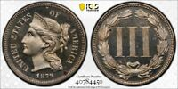 1879 PCGS UNC DETAIL TOOLED PROOF 3 CENT NICKEL WITH A TRUEVIEW  DW1015