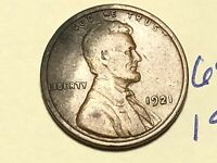 1921 1C BN LINCOLN CENT WHEAT CENT 6939K