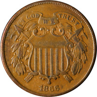1866 TWO  2  CENT PIECE GREAT DEALS FROM THE EXECUTIVE COIN COMPANY