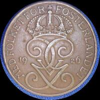 SWEDEN THREE 5 ORE OLD WORLD COINS 1921 25 26 NICE SHAPE