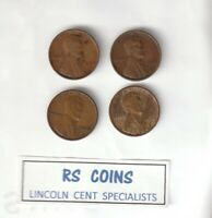 1926 / 1927 / 1928 / 1929  GROUP OF  4  LINCOLN CENTS - RS COINS 1401