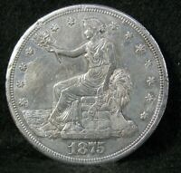 1875 S TRADE DOLLAR BETTER GRADE DETAILS UNITED STATES SILVE