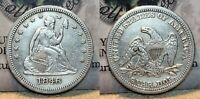 1846 SEATED LIBERTY QUARTER 25C GREAT DETAILS CLEANED