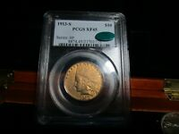 GOLD KEY DATED 1913 S  INDIAN HEAD EAGLE  PCGS & CAC EF 45 1