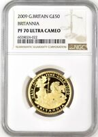 2009 GOLD PROOF BRITANNIA 50 COIN NGC PF70 UCAM. ROYAL MINT