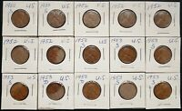 LOT OF 12X USA LINCOLN WHEAT CENTS - DATES: 1950,1952, 1953