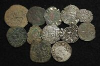 SPAIN. LOT OF 12 ASSORTED MEDIEVAL COINS
