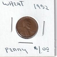 1952 - LINCOLN WHEAT CENT - GOOD - BX8 - SHIPS FREE