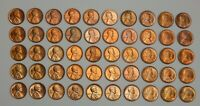 1946-S UNC LINCOLN WHEAT CENTS - LOT OF 50