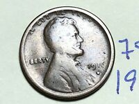 1916-S LINCOLN WHEAT CENT PENNY 1C 7535K