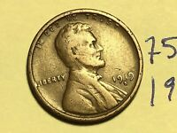 1919 S LINCOLN CENT WHEAT BACK PENNY 7538K