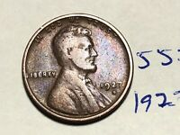 1927 D LINCOLN CENT WHEAT CENT 5575K