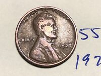 1927 D LINCOLN CENT WHEAT CENT 5580K