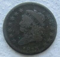 1813 CLASSIC HEAD LARGE CENT  DATE MINOR DAMAGE NOTED