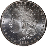 1885-O MORGAN SILVER DOLLAR PCGS MINT STATE 64 GREAT EYE APPEAL FANTASTIC LUSTER - STOCK