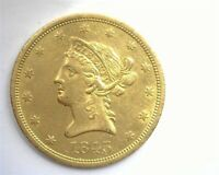 1843 O LIBERTY HEAD $10 GOLD NEARLY UNCIRCULATED  THIS NICE