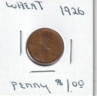 1926 - LINCOLN WHEAT CENT - GOOD - BX3 - SHIPS FREE