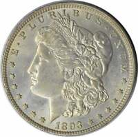 1893-O MORGAN SILVER DOLLAR AU SLIDER UNCERTIFIED