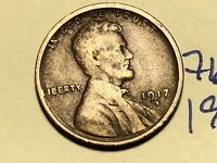 1917 S LINCOLN CENT WHEAT CENT 7657K
