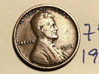 1918 LINCOLN CENT WHEAT CENT 7510K