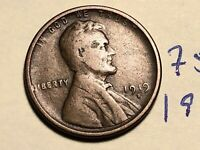 1919 S LINCOLN CENT WHEAT BACK PENNY 7515K