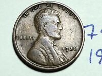 1926 1C BN LINCOLN CENT WHEAT CENT 7472K