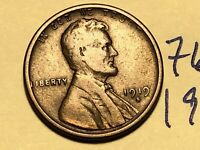1919 S LINCOLN CENT WHEAT BACK PENNY 7654K